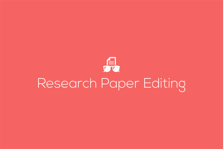 Academic research paper editing