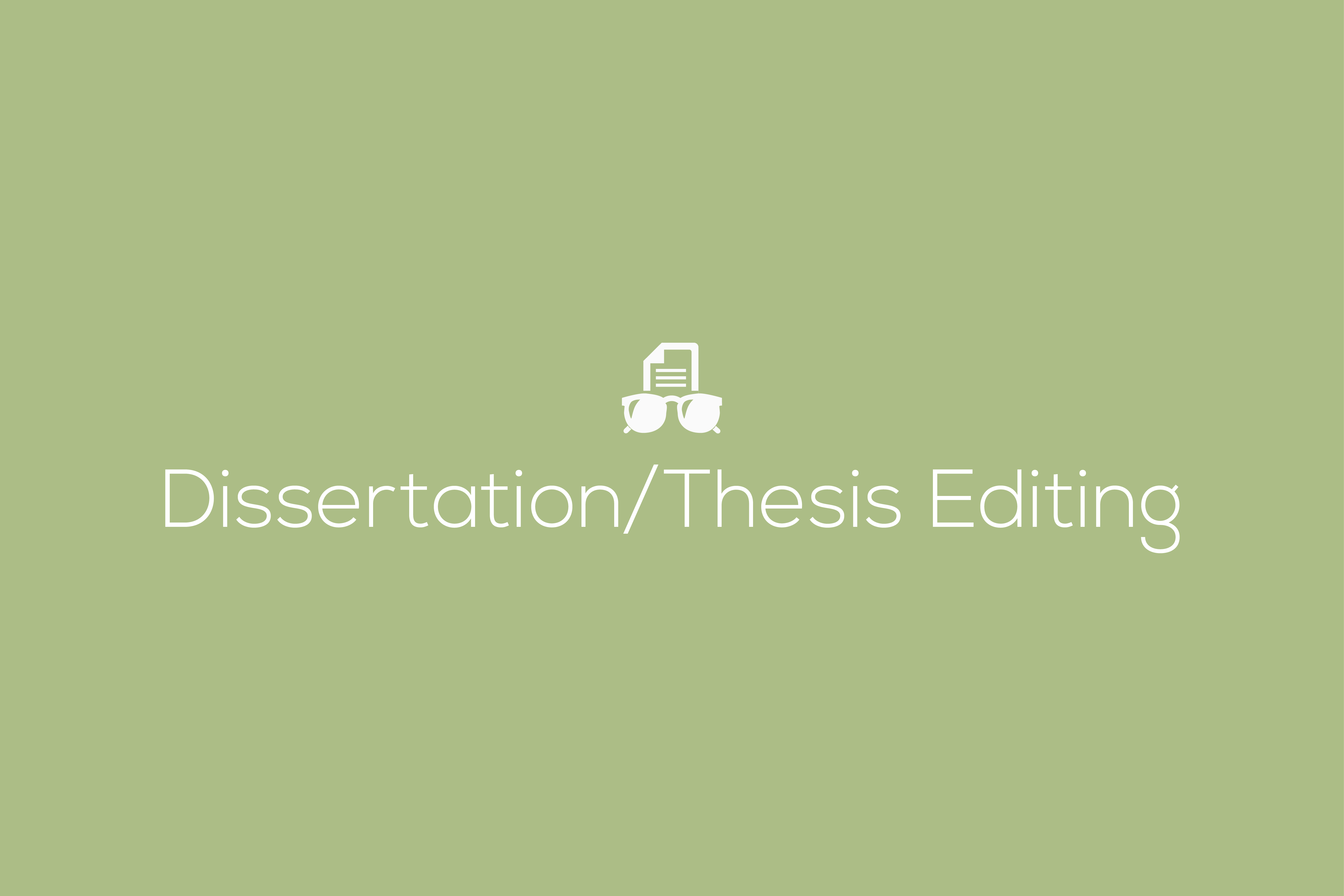 Dissertation Editing Services – My Blog